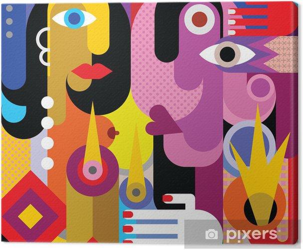 Man and Woman Canvas Print - Themes