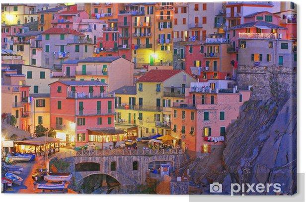 Manarola, Cinque Terre, Italy Canvas Print - Themes