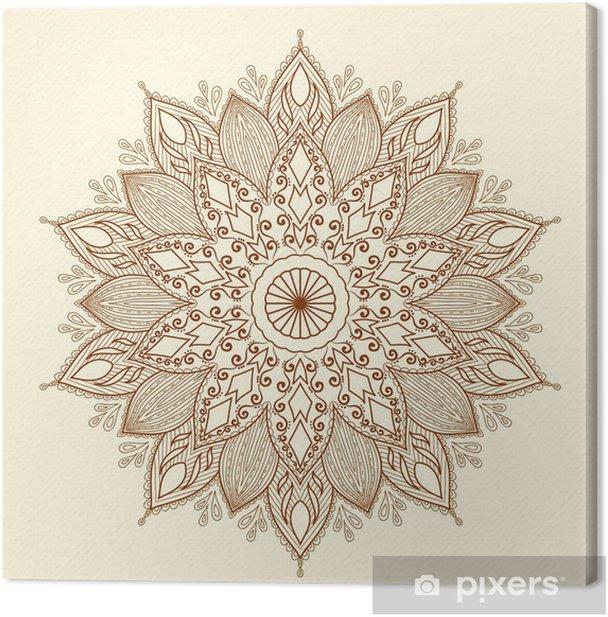 Mandala. Beautiful hand-drawn flower. Canvas Print - Styles