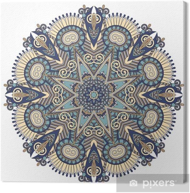 mandala, circle decorative spiritual indian symbol of lotus flow Canvas Print - Wall decals