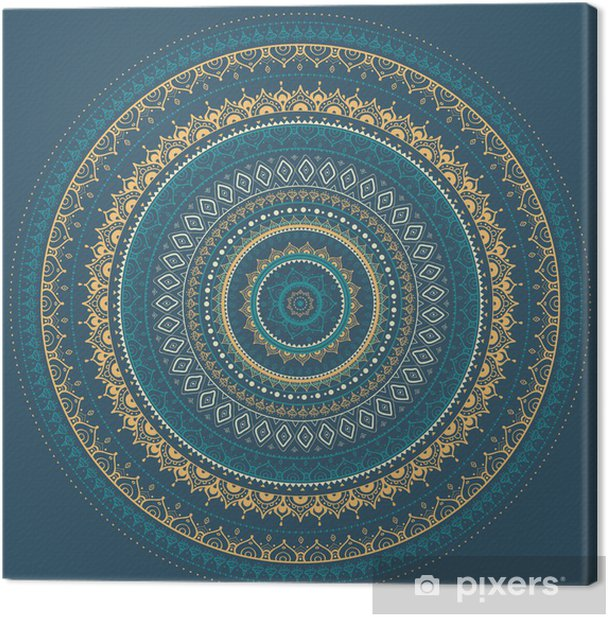 Mandala. Indian decorative pattern. Canvas Print - Styles