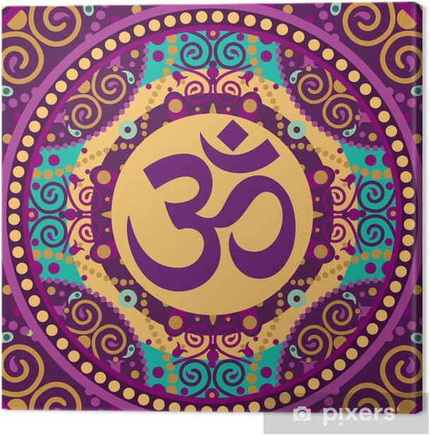 mandala ohm Canvas Print - Themes
