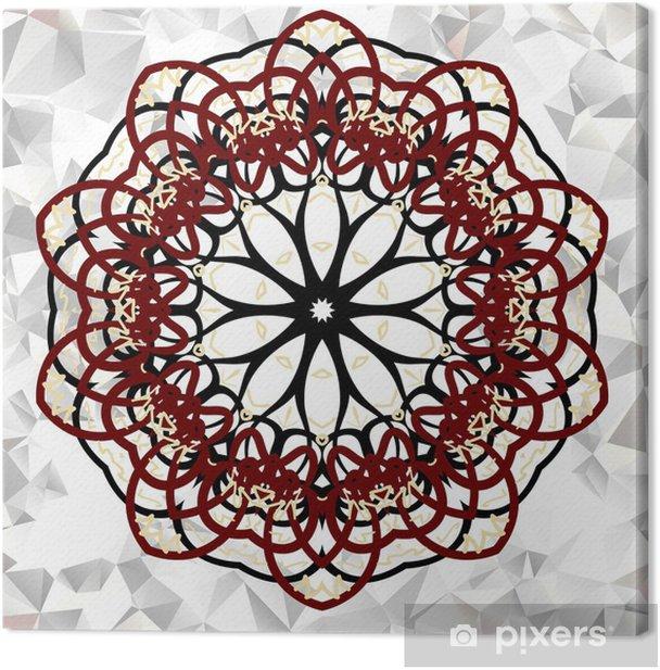 Mandala. Round Ornament Pattern. Canvas Print - Finance