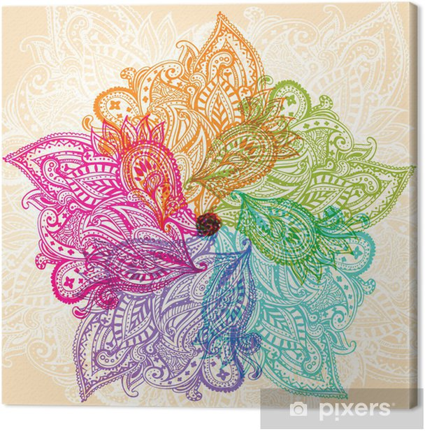 Mandala symbol Canvas Print - Themes