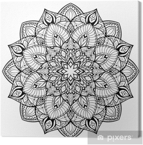 Mandala with thin lines. Canvas Print - Signs and Symbols