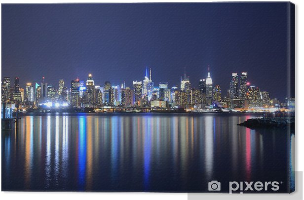 Manhattan Skyline Canvas Print - Themes