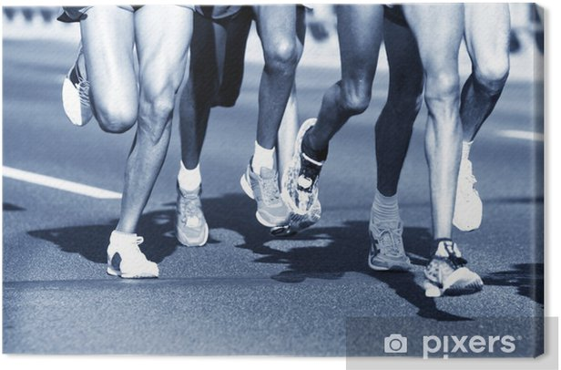 Marathon runners. Sport, competition, energy. Canvas Print - Themes