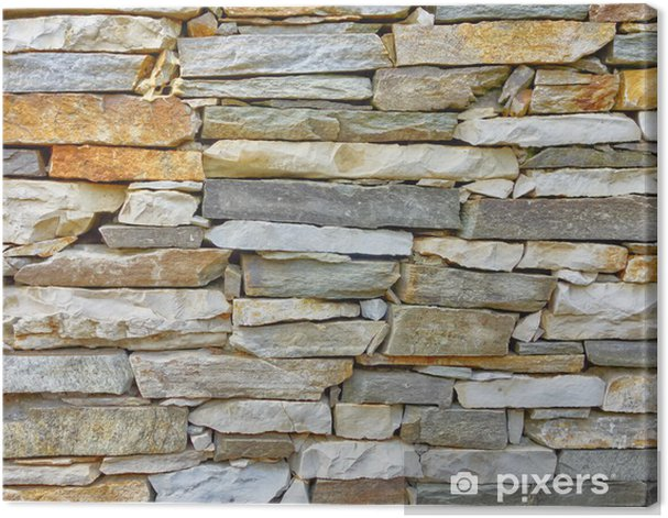 marble and stone wall closeup Canvas Print - Styles