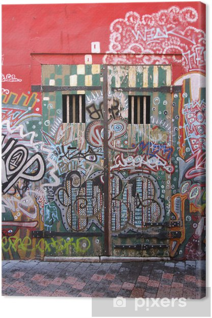 Marseille - Cours Julien (street art) Canvas Print - Infrastructure