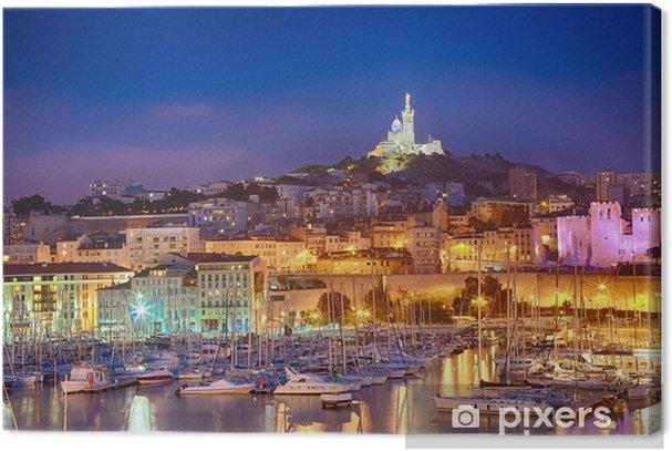 Marseille france vieux port notre dame de la garde canvas print pixers we live to change - Pharmacie de garde marseille vieux port ...