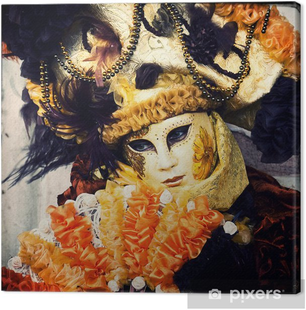 Mask - Carnival of Venice Canvas Print - European Cities