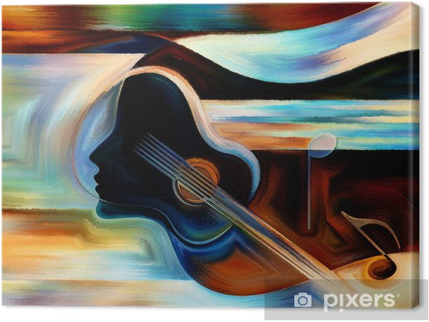Material of Music Canvas Print - Themes