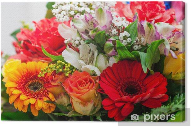 Mazzo Di Fiori Immagini.Mazzo Di Fiori Bouquet Auguri Canvas Print Pixers We Live To