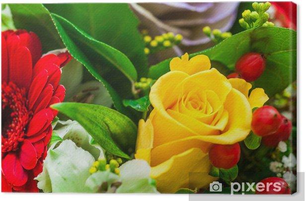 Mazzo Di Fiori Auguri.Mazzo Di Fiori Bouquet Auguri Canvas Print Pixers We Live To