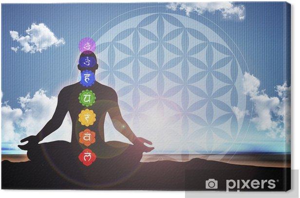 Meditation blue matrix Canvas Print - Health