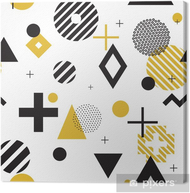 Memphis style seamless pattern Canvas Print - Graphic Resources