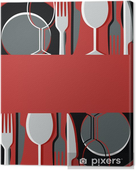 Menu or restaurant card Canvas Print - Themes