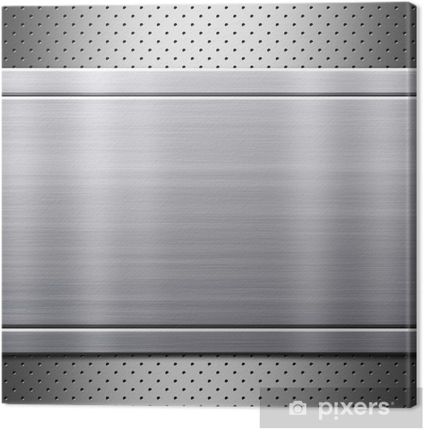 Metal plate with rivets Canvas Print -