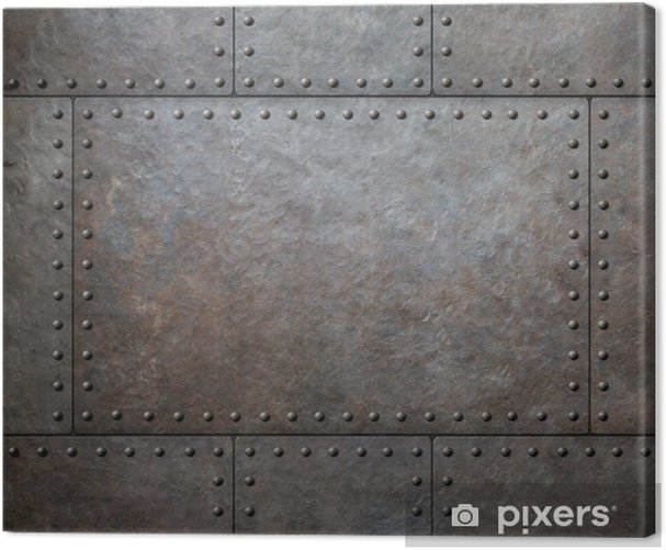 metal texture with rivets as steam punk background or texture Canvas Print - Styles
