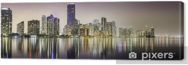 Miami downtown panorama at night Canvas Print - America