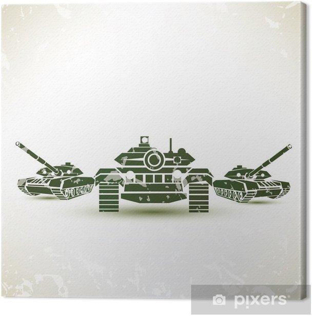 military tank symbol Canvas Print - Themes