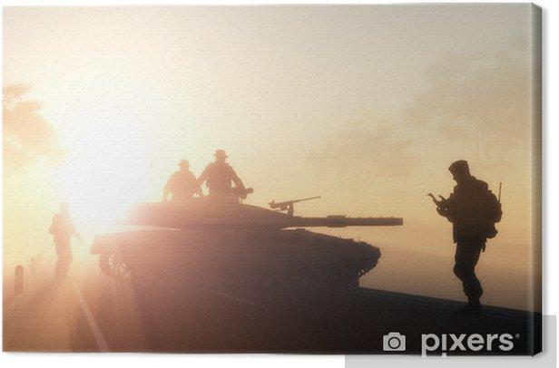 Military. Canvas Print - Themes
