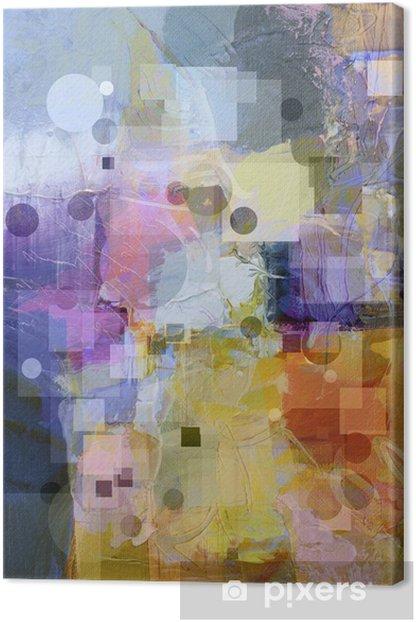 mit kreisen und quadraten texturierter hintergrund Canvas Print -