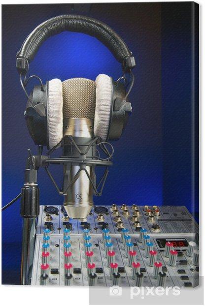Mixer, Mic and Headphones Canvas Print - Signs and Symbols