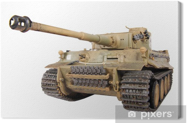 Model of tank Tiger isolated Canvas Print - Themes
