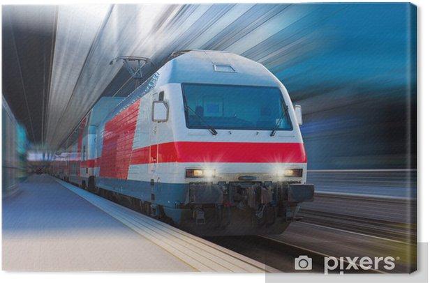 Modern high speed train Canvas Print - Themes