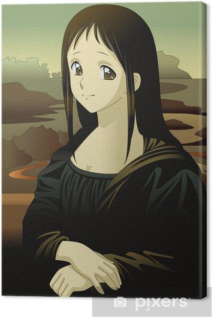 Mona Lisa anime manga style Canvas Print - Art and Creation