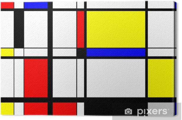 Mondrian Digital Art Canvas Print - iStaging