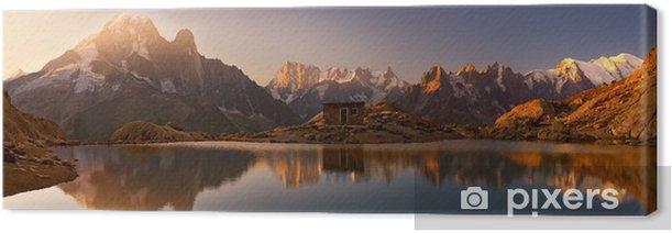 Monte Bianco e Alpi riflesse nel Lago Bianco Canvas Print - Destinations