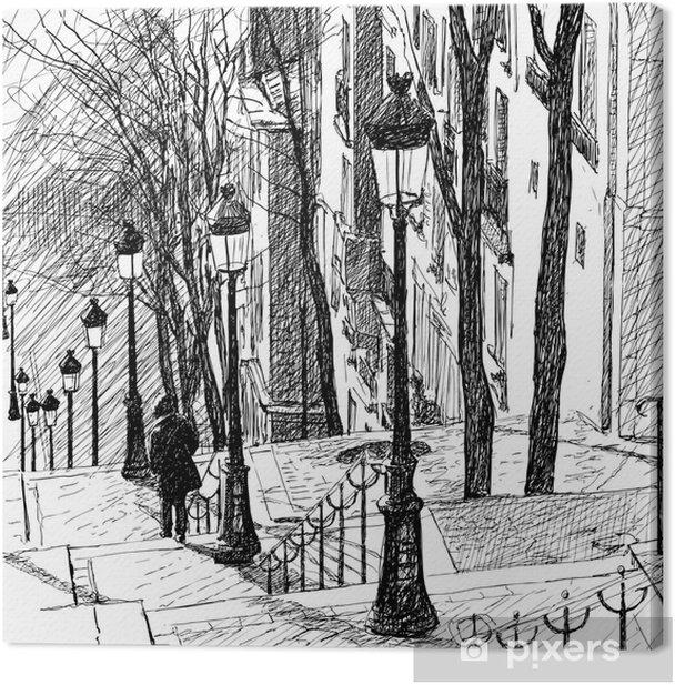 Montmartre in Paris Canvas Print - Themes