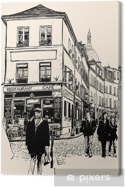 Montmartre Paris Canvas Print - Themes
