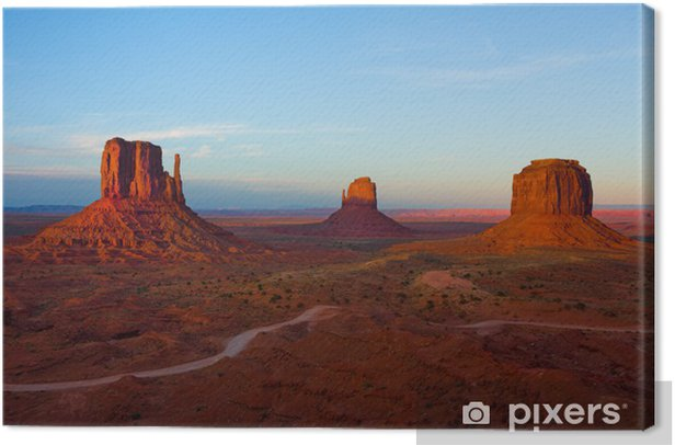 Monument Valley at sunset Canvas Print - Deserts