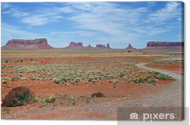 Monument valley Canvas Print - Skies