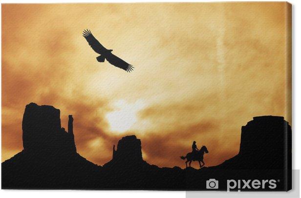 Monument Valley Canvas Print - Birds