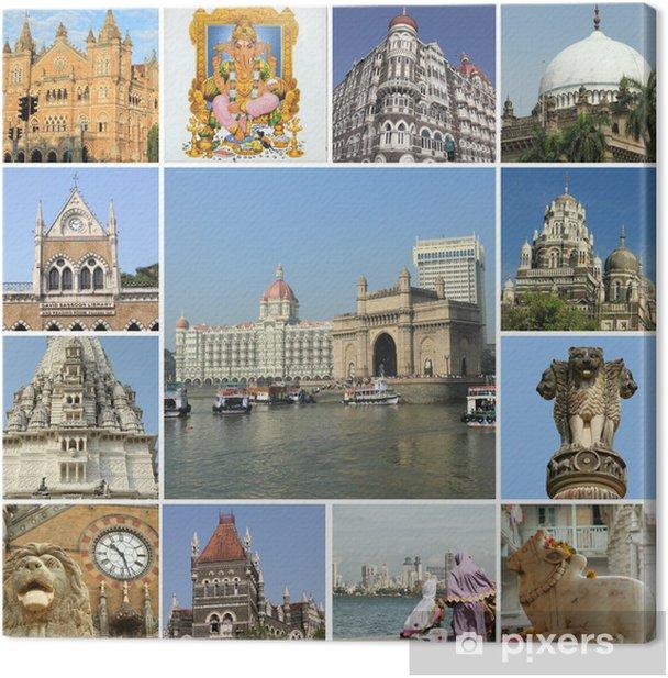 monuments of Mumbai ( formerly Bombay ) city, India Canvas Print - Asia