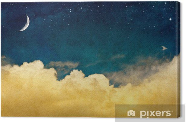 Moon and Cloudscape Canvas Print - Themes