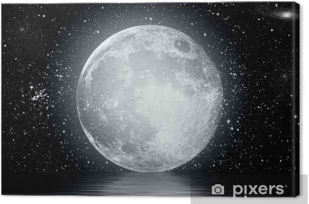 moon Canvas Print - Stars