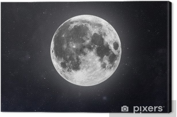 Moon Canvas Print - Outer Space