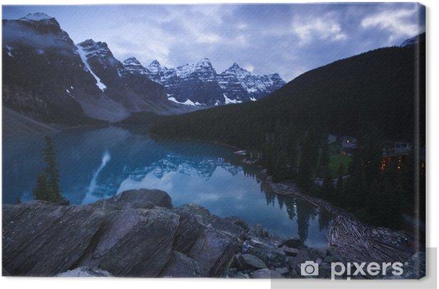 Moraine Lake Alberta Banff National Park Canvas Print