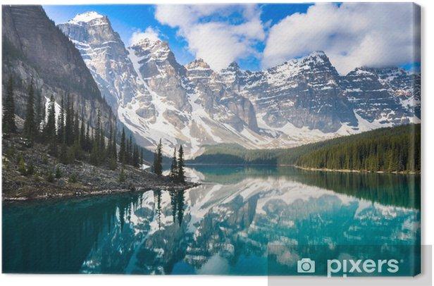 Moraine Lake, Rocky Mountains, Canada Canvas Print - Themes