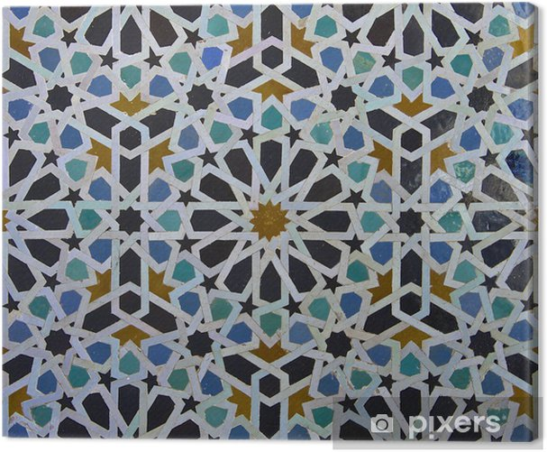 Moroccan Zellige Tile Pattern Canvas Print - Tiles
