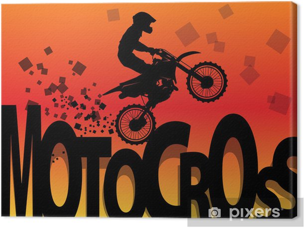 Motocross racing background, vector illustration Canvas Print - Extreme Sports