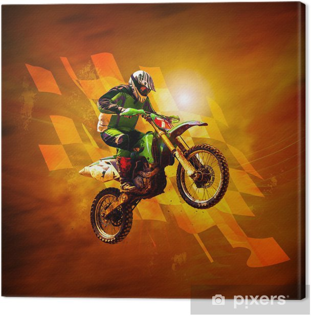 motocross Canvas Print - Extreme Sports