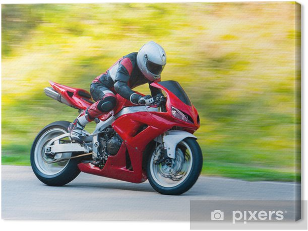 Motorbike racing Canvas Print - Extreme Sports