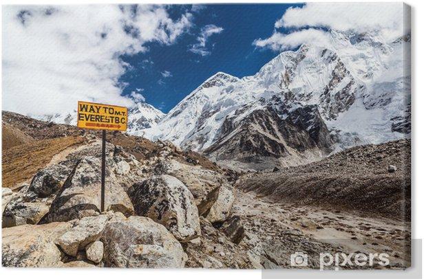 Mount Everest signpost Canvas Print - Themes
