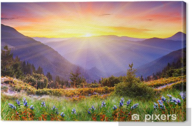 mountain landscape Canvas Print - Themes